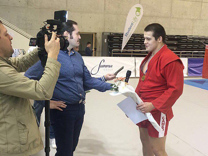 Студент факультета физической культуры и спорта стал победителем в Чемпионате мира по самбо