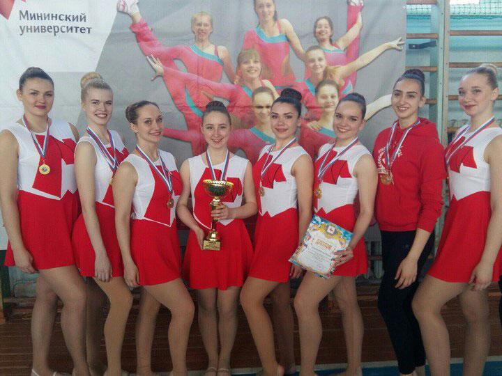 Студенты Мининского университета одержали победу в соревнованиях по чир спорту и черлидингу