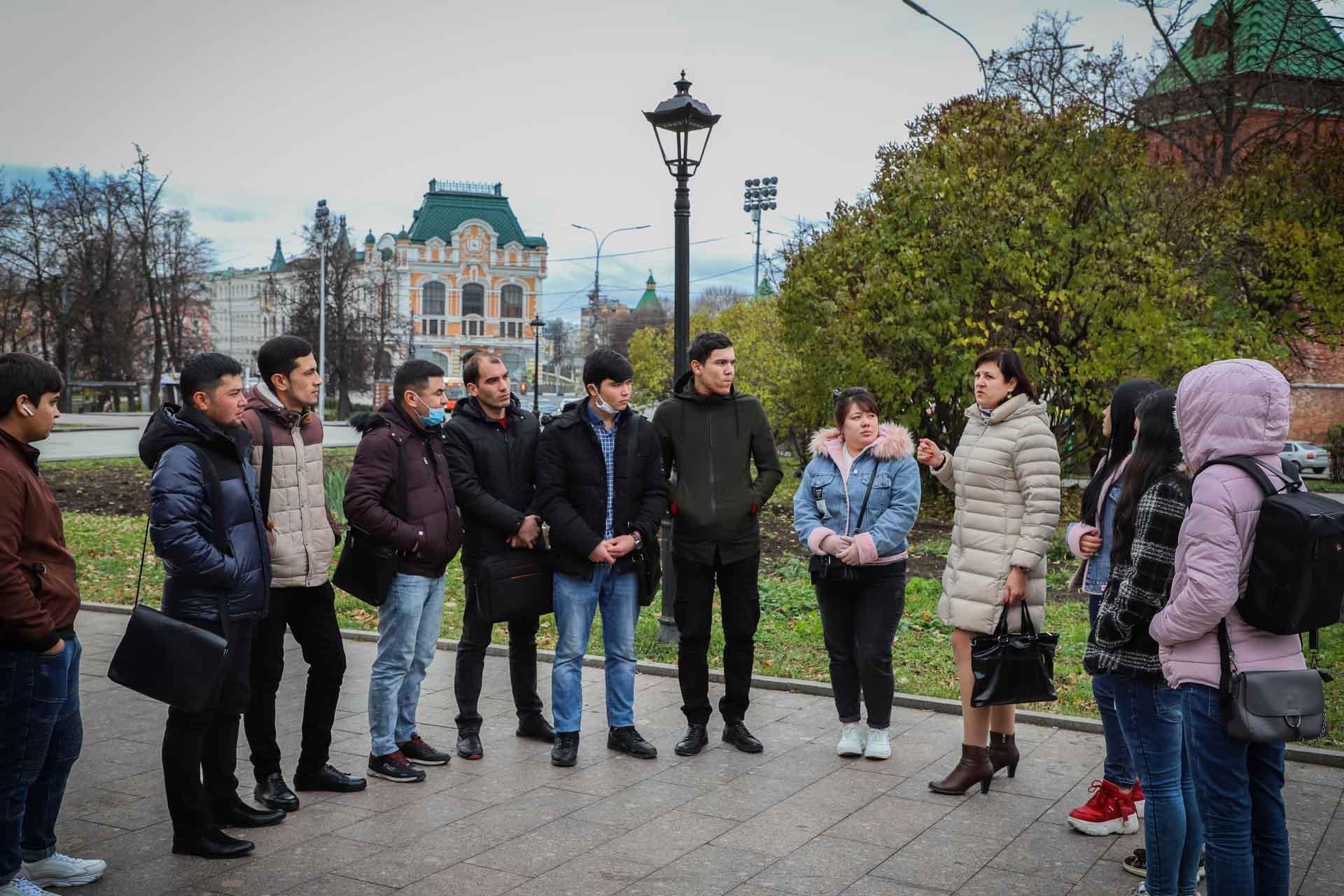 Иностранные студенты Мининского университета узнали историю Нижнего Новгорода