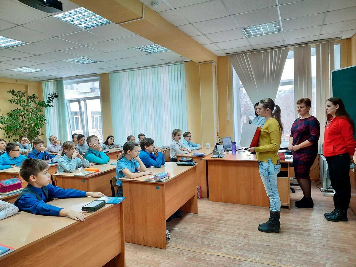 Участники проекта «Волонтер безопасности» провели мастер-класс со школьниками