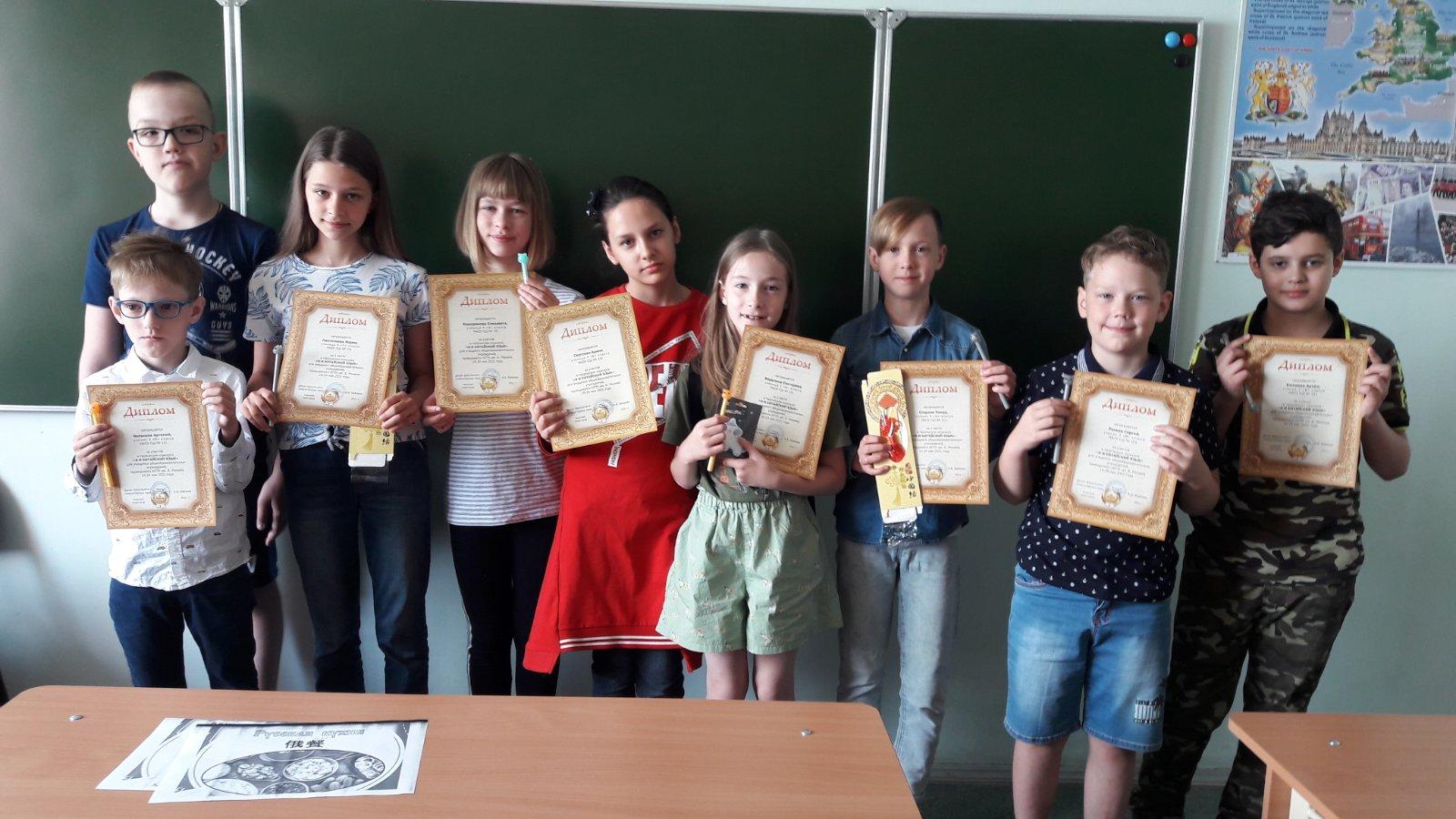 Школьники приняли участие в конкурсе Мининского университета «Я и китайский язык»