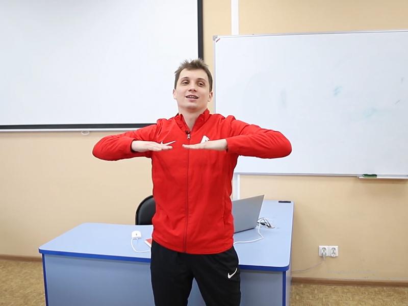 Зарядка для студентов и преподавателей Мининского университета