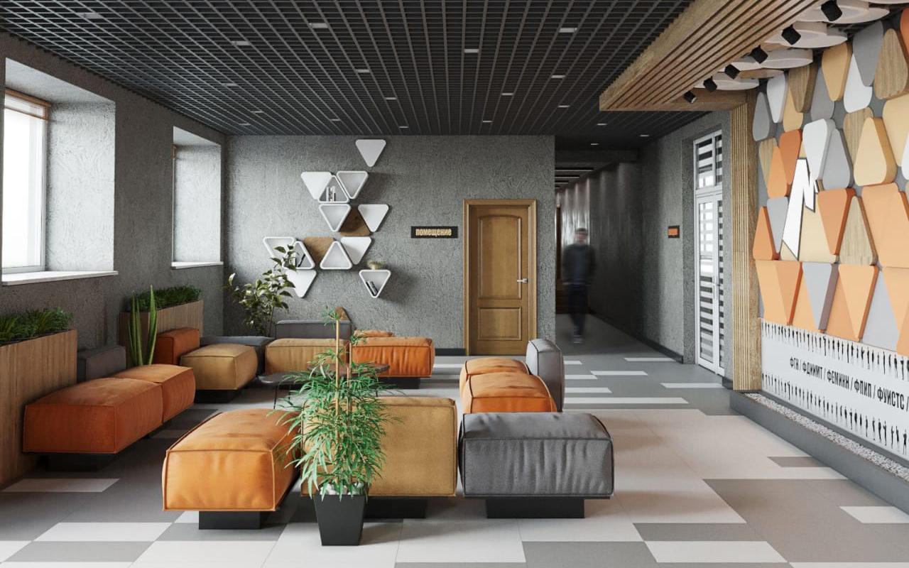 Опубликован дизайн-проект холла в общежитии №3 Мининского университета