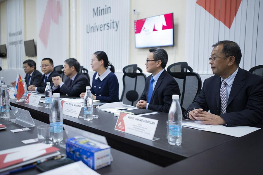 Мининский университет посетила делегация из Аньхойского научно-технологического университета (КНР)