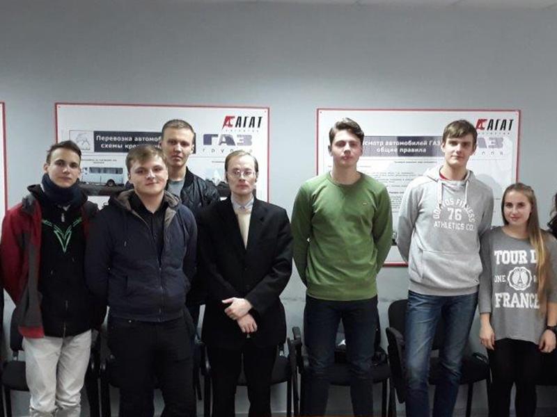Студенты ФУиСТС познакомились со спецификой перевозок на примере компании «Агат-Логистик»