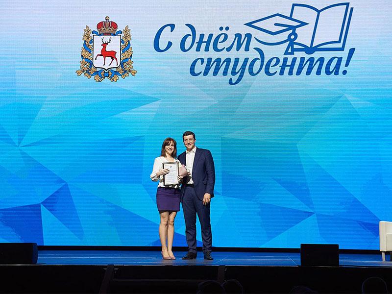В день студента губернатор Нижегородской области наградил студенческое телевидение Мининского университета